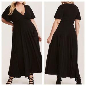Torrid Jersey Knit Flutter Sleeve Maxi Dress-Sz 2